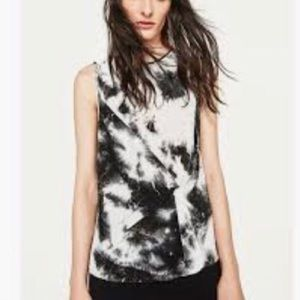 NWT Zara front knot pleated sleeveless top size M